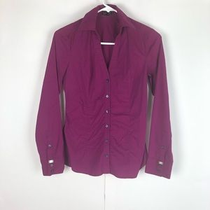 Women's fuchsia button up, brand: Express, size xs